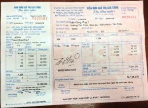 In hóa đơn tiền nước 1